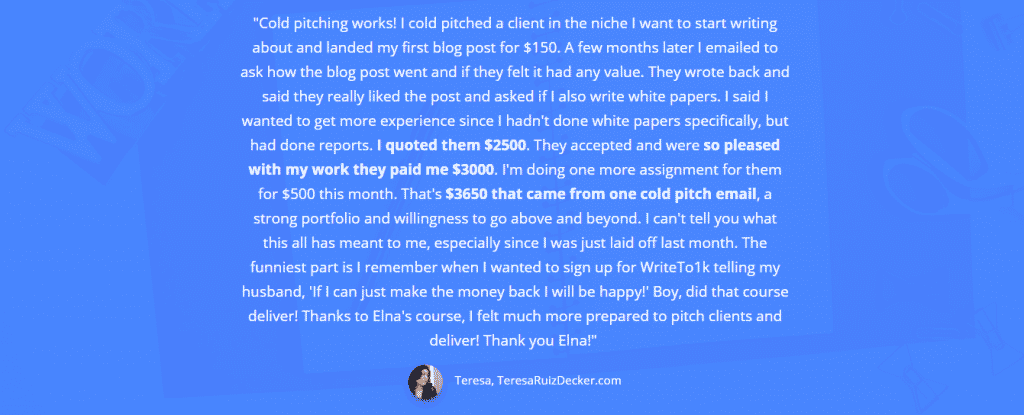 Write your way to $1K