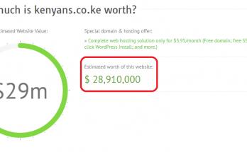 How much is Kenyans.co.ke worth