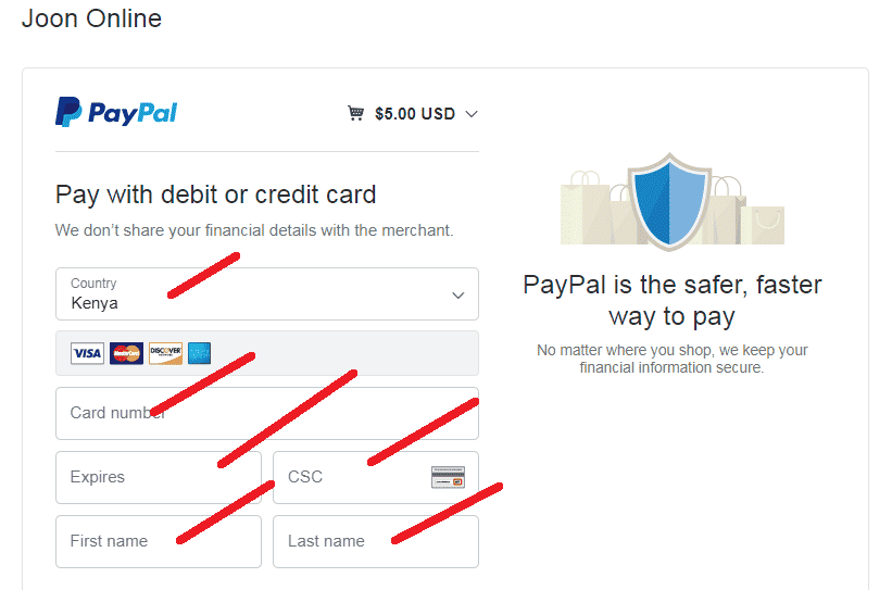 How to pay with paypal