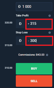 Stop loss and take profit on Olymp Trade