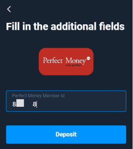 Perfect money ID for Olymp Trade