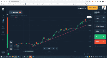 Olymp Trade trendline drawing tool
