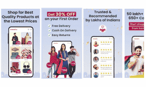 Meesho App. Earn by reselling products in India